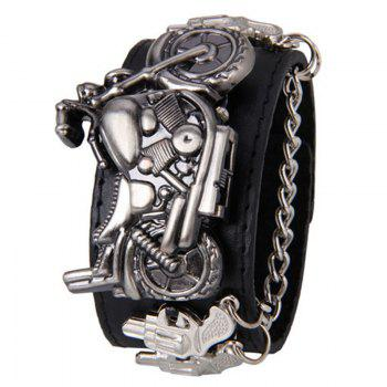 Gothic Style Motorcycle Number Watch - BLACK BLACK