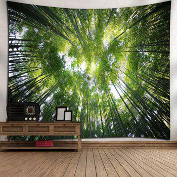 Forest Print Tree Wall Hanging Tapestry - GREEN W91 INCH * L71 INCH