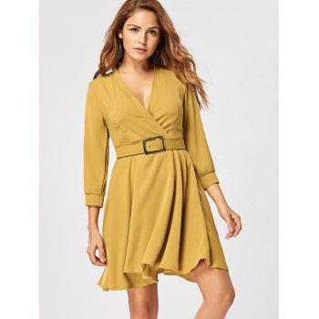 Fit and Flare Dress with Belt - GINGER 2XL