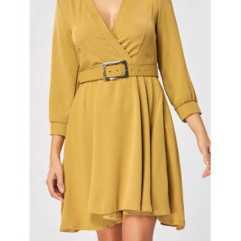 Fit and Flare Dress with Belt - GINGER GINGER