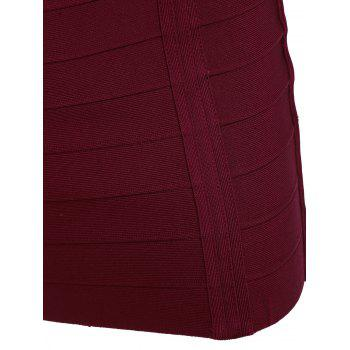 Cami Strap Night Out Bandage Dress - WINE RED WINE RED