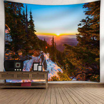 Forest Scenery Printed Wall Decor Tapestry - COLORMIX W79 INCH * L71 INCH