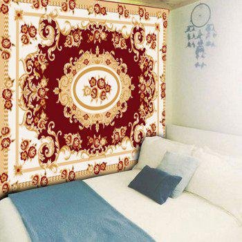 Ethnic Flower Print Wall Art Tapestry - COLORMIX W59 INCH * L51 INCH