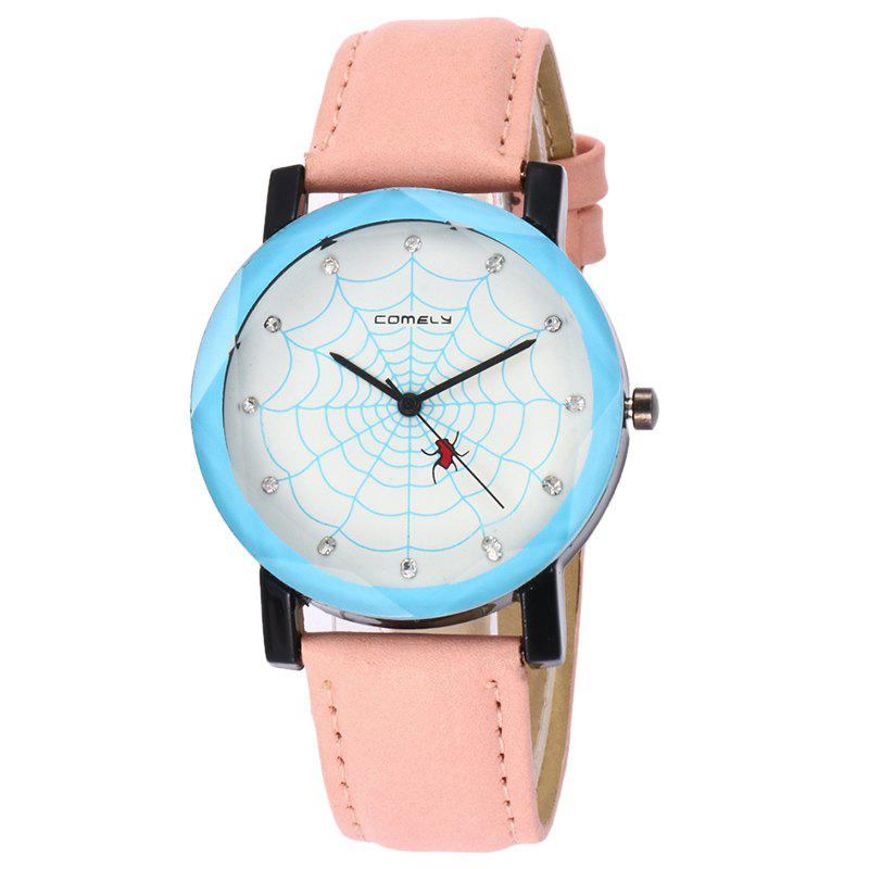 Spider Web Face Analog Watch - PINK
