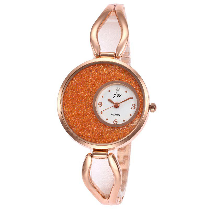 Alloy Strap Sands Face Analog Watch - ORANGE