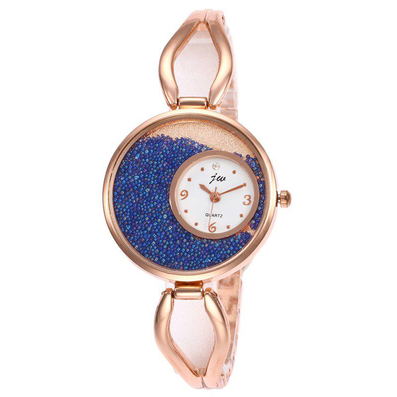 Alloy Strap Sands Face Analog Watch - BLUE