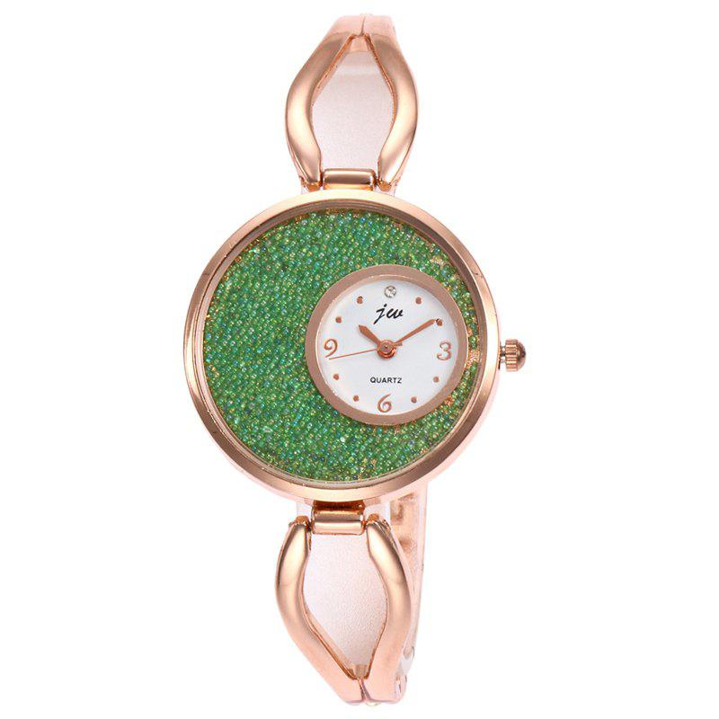 Alloy Strap Sands Face Analog Watch - Vert