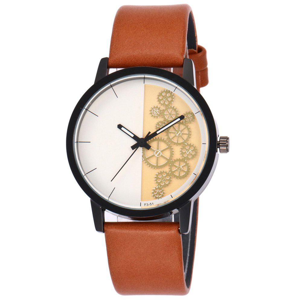 Montre en cuir antidérapant - Orange