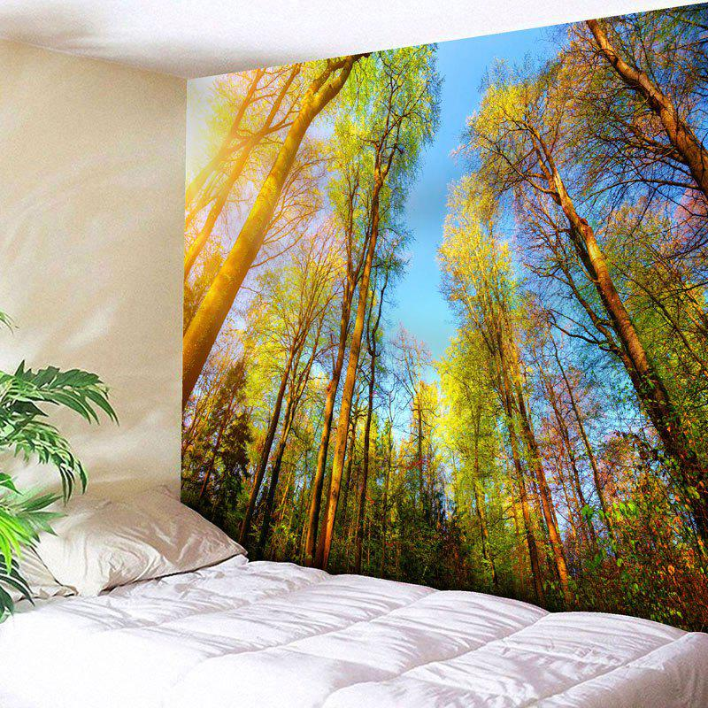 Forest Sky Bedroom Wall Decor Tapestry - GREEN W79 INCH * L71 INCH