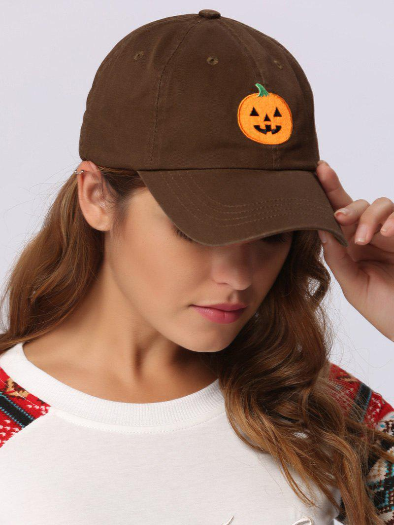 9232bcf2869 2018 Halloween Pumpkin Embroidered Baseball Hat CHOCOLATE In Hats ...