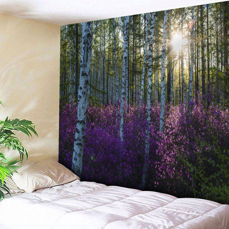 bedroom tapestry. Forest Tree Flower Print Bedroom Tapestry  PURPLE W91 INCH L71 2018 W L