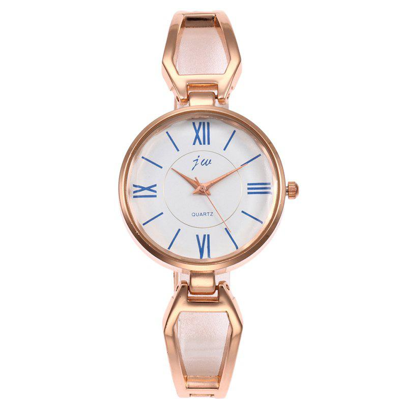 Roman Numerals Alloy Watch - ROSE GOLD