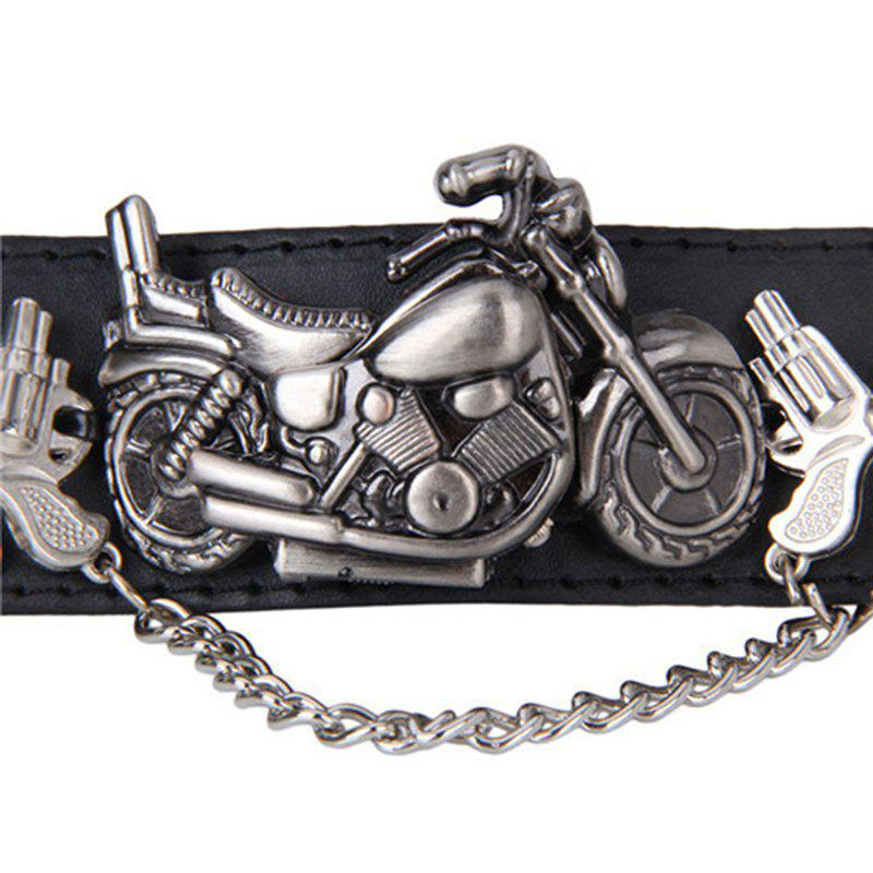Gothic Style Motorcycle Number Watch - BLACK