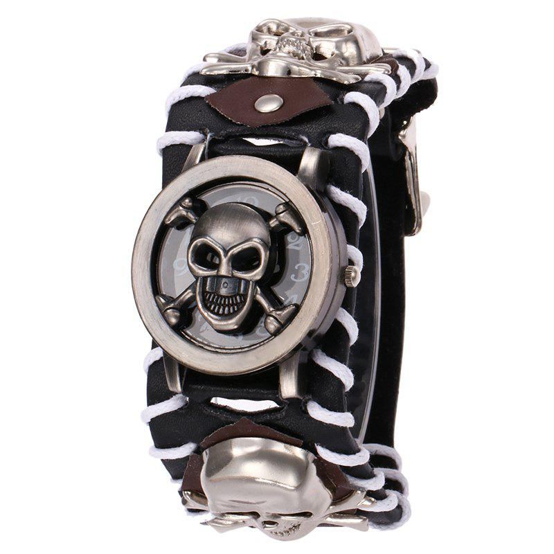 Gothic Style Skull Number Watch - BLACK