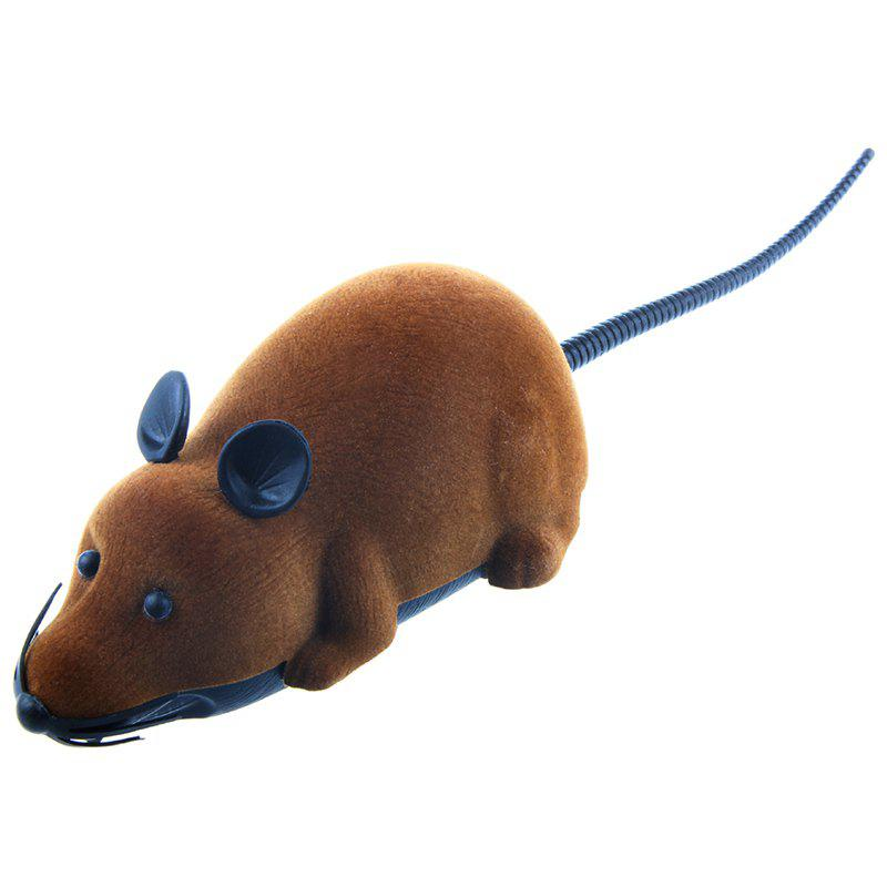 Wireless Electronic Remote Control Mouse Toy - BROWN