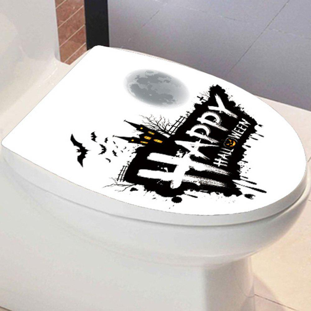 Happy Halloween Toilet Sticker - Noir