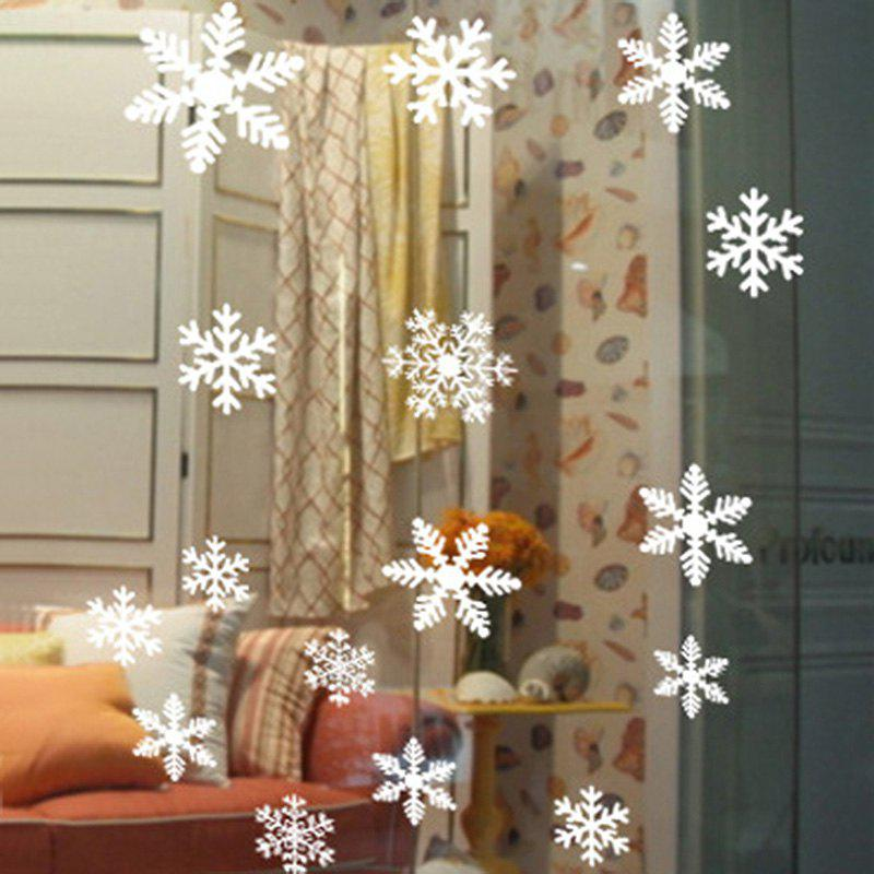 Christmas Snowflake Wall Art Stickers - WHITE