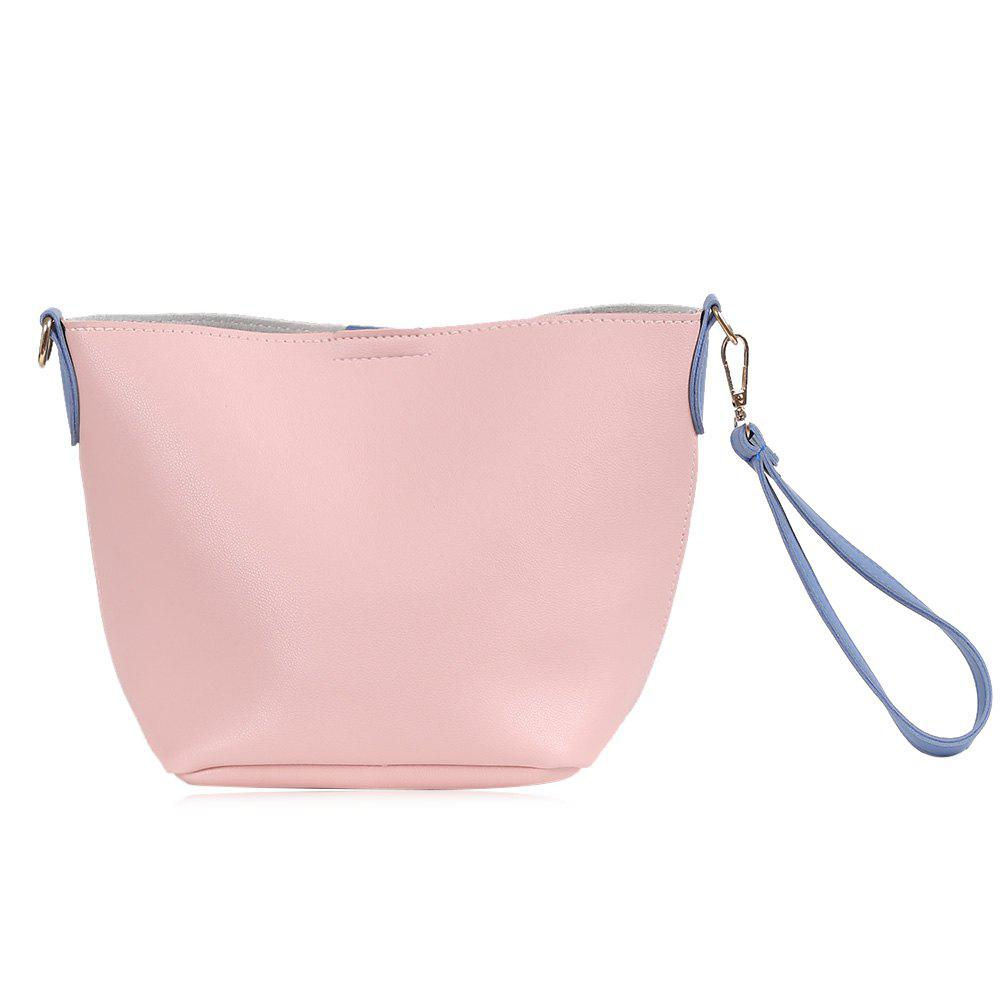 Wristlet Color Block Crossbody Bag - Rose et Gris