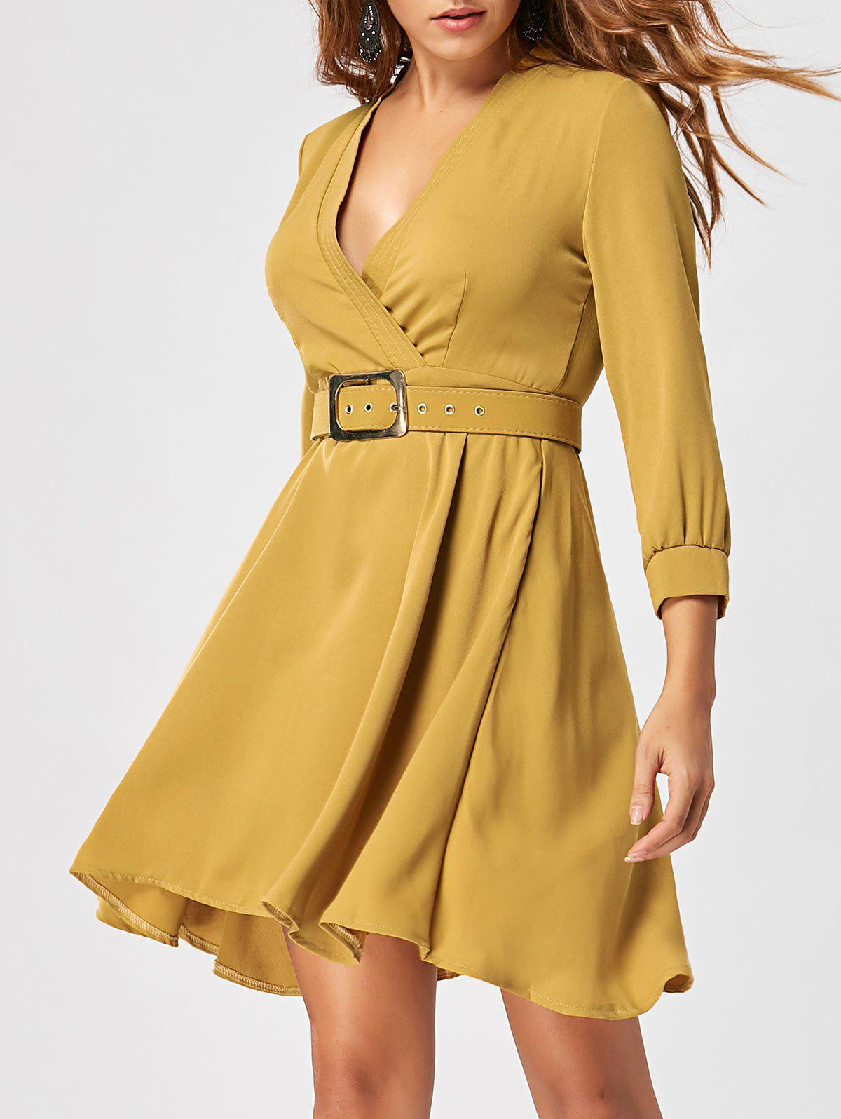 Fit and Flare Dress with Belt - GINGER L