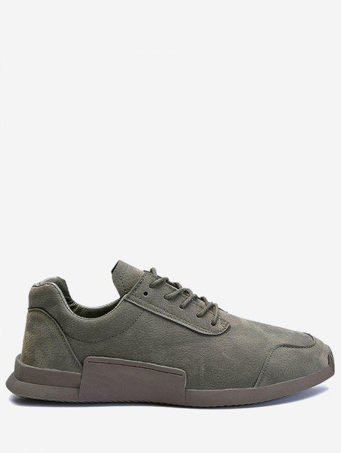 Tie Up Round Toe Sneakers - Gris 44