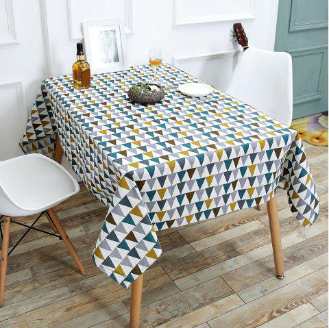 Linen Triangle Pattern Table Cloth - COLORFUL W55 INCH * L71 INCH