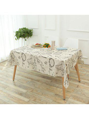 Tablecloths linen round square tablecloths for kitchen vintage world map printed linen table cloth gumiabroncs Gallery