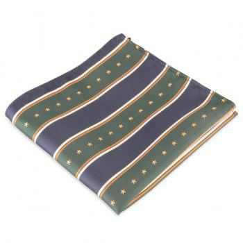 Various Printed Pocket Sqaure - BLUE GREEN BLUE GREEN