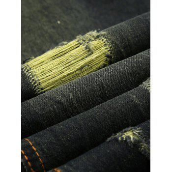Ripped and Repaired Jeans - BLACK 34