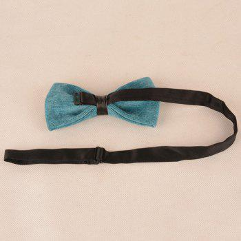 Corduroy Multicolor Bow Tie -  LAKE GREEN
