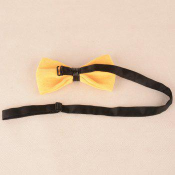 Corduroy Multicolor Bow Tie -  LIGHT YELLOW