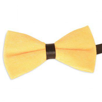 Corduroy Multicolor Bow Tie - LIGHT YELLOW LIGHT YELLOW