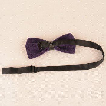 Corduroy Multicolor Bow Tie - PURPLE