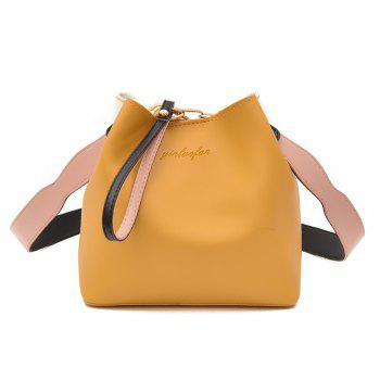 Ensemble de sac à main Faux Leather 2 Pieces - Jaune