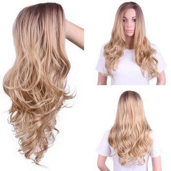 Side Parting Long Colormix Layered Wavy Synthetic Wig - COLORMIX COLORMIX