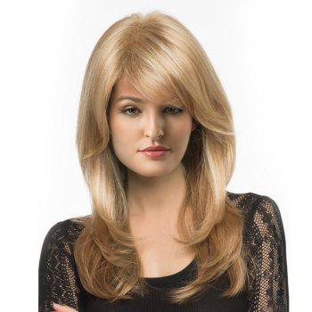 Long Side Parting Shaggy Layered Straight Synthetic Wig - M27/613# 20INCH