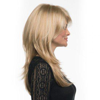 Long Side Parting Shaggy Layered Straight Synthetic Wig - M / 20INCH