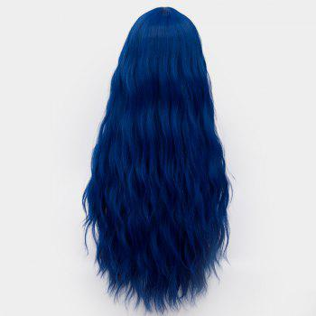Middle Part Long Fluffy Water Wave Synthetic Party Wig - ROYAL