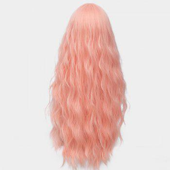 Middle Part Long Fluffy Water Wave Synthetic Party Wig - PAPAYA