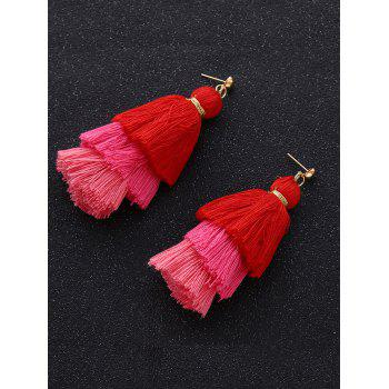 Boucles d'oreilles en cape multicolore - rose