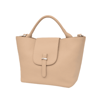 Top Handle Faux Leather Handbag -  PALOMINO