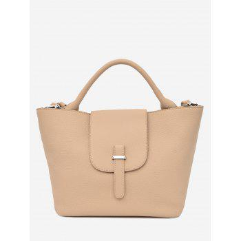 Top Handle Faux Leather Handbag - PALOMINO PALOMINO