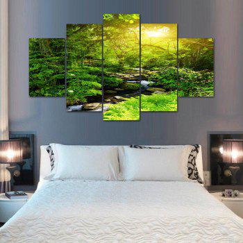 Forest Stream Print Unframed Canvas Paintings