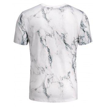 3D Marbling Print Short Sleeve T-shirt - COLORMIX XL