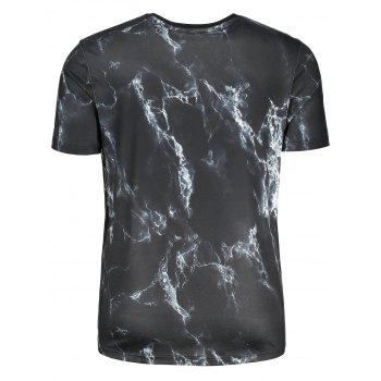 3D Lightning Print Short Sleeve T-shirt - COLORMIX M