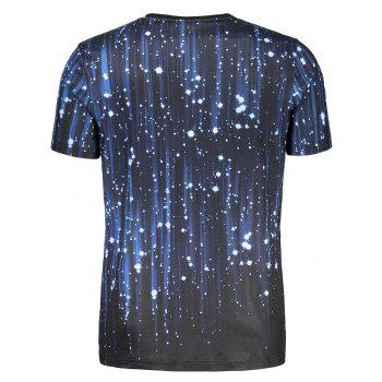 T-shirt à manches courtes 3D Galaxy Print - multicolorcolore M