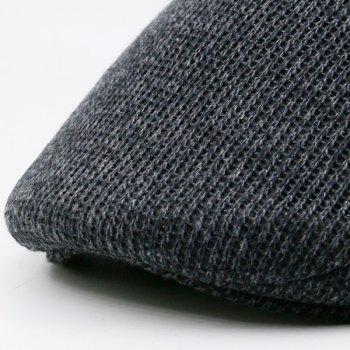 Outdoor Knitted Newsboy Hat - GRAY