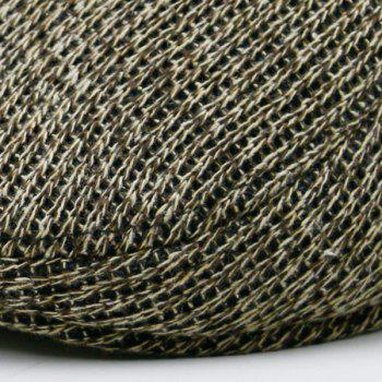 Outdoor Knitted Newsboy Hat - COFFEE