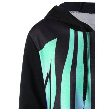 Plus Size Butterfly Shape Hoodie - MINT XL