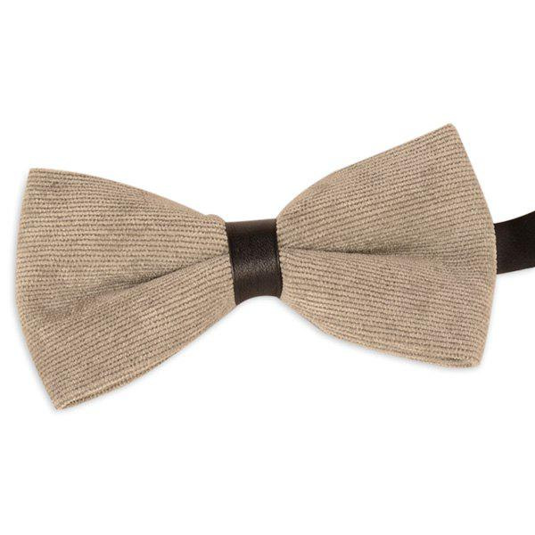 Corduroy Multicolor Bow Tie - LIGHT KHAKI