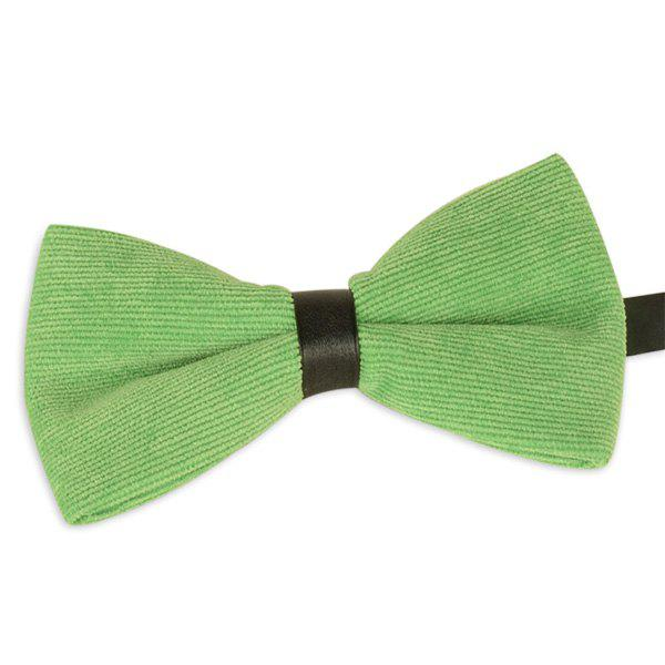 Corduroy Multicolor Bow Tie - GRASS GREEN